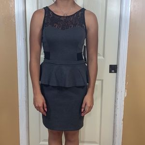 Kensie charcoal black work dress size S